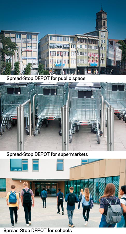 Spread-Stop DEPOT for public spaces