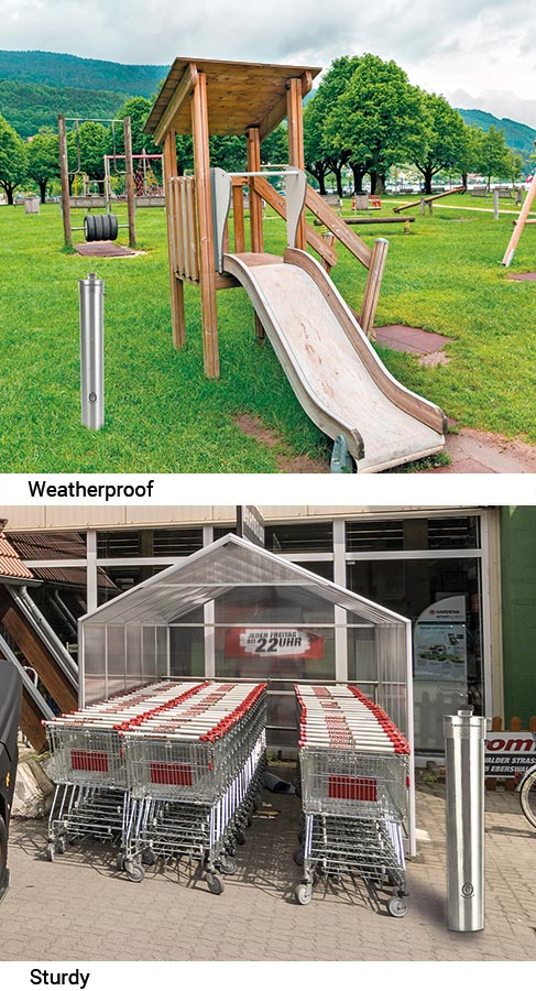 Specially developed: Spread-Stop for outdoors