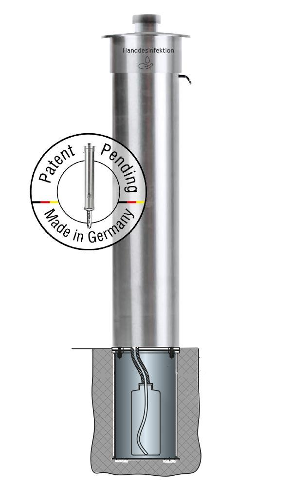 Spread-Stop: hand sanitizer dispenser station